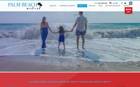 Screenshot of Home Page palmbeachmed.com - Medical Office in West Palm Beach, FL - Downtown: Palm Beach Medical - captured Nov. 9, 2018