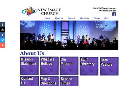 Screenshot of About Page newimageoutreach.com - About Us - captured June 17, 2016