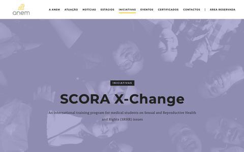 Screenshot of Testimonials Page anem.pt - Testimonials ‹ SCORA X-Change | ANEM - captured Oct. 2, 2018