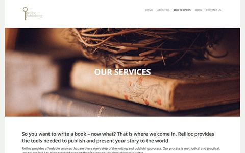 Screenshot of Services Page reillocpublishing.com - Our Services | Reilloc Publishing - captured Dec. 16, 2016