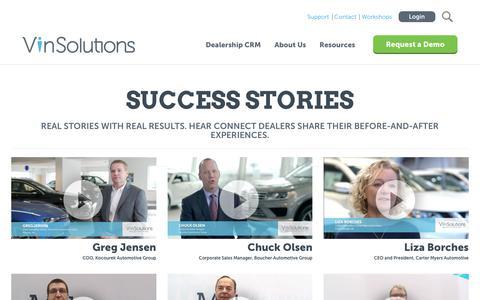 Screenshot of Testimonials Page vinsolutions.com - VinSolutions - Automotive Dealer Testimonials - captured Sept. 20, 2018