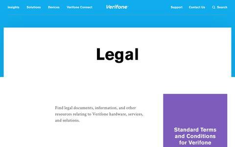Screenshot of Terms Page verifone.com - Legal | Verifone.com - captured Nov. 24, 2018