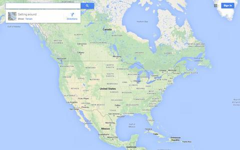 Screenshot of Maps & Directions Page google.com - Google Maps - captured Oct. 22, 2014