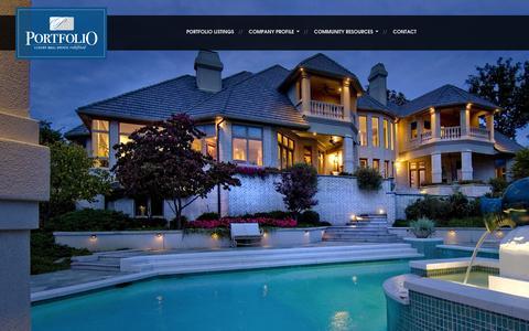 Screenshot of Home Page portfolionwa.com - Portfolio NWA » Portfolio NWA - captured Oct. 2, 2014