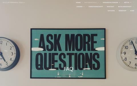 Screenshot of FAQ Page wordpress.com - FAQ – Ski-Club Pirmasens 1950 e.V. - captured March 27, 2017