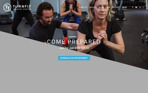 Screenshot of Signup Page turnfit.ca - Join - Personal Trainer in Vancouver - captured May 24, 2019