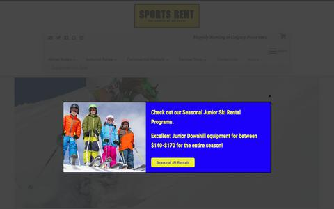 Screenshot of Home Page sportsrent.ca - Sports Rent - captured Oct. 20, 2018