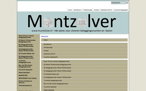 Screenshot of Site Map Page Menu Page muntzilver.nl - Map - captured Oct. 26, 2014