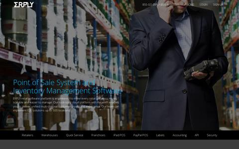 Screenshot of Home Page erply.com - iPad POS Point of Sale System and Retail Inventory Management Software Erply - captured July 11, 2014