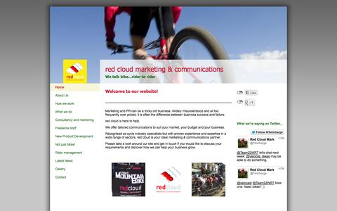 Screenshot of Home Page redcloudmc.com - Red Cloud Marketing & Communications - Home - captured Oct. 6, 2014