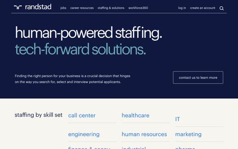 Recruiting, Staffing and Workforce Solutions | Randstad USA