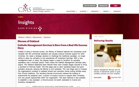 Screenshot of Case Studies Page cmsmission.org - Case studies | Catholic Management Services - captured Oct. 2, 2014