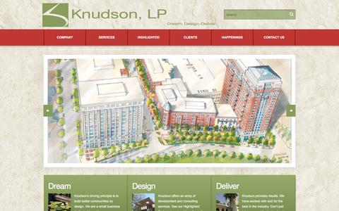 Screenshot of Home Page knudsonlp.com - Knudson, LP | - captured Jan. 9, 2016