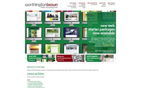 Screenshot of Press Page worthingtonbrownchina.com - Web Design, Graphic Design - Hangzhou, China: Worthington Brown - captured Oct. 6, 2014