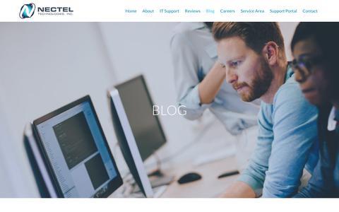 Screenshot of Blog necteltechnologies.com - Our IT Support Blog Cicero | News from Nectel Technologies | Nectel Technologies - captured Oct. 18, 2018