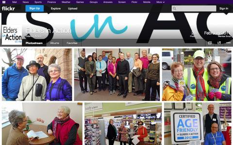 Screenshot of Flickr Page flickr.com - Flickr: Elders in Action's Photostream - captured Oct. 22, 2014