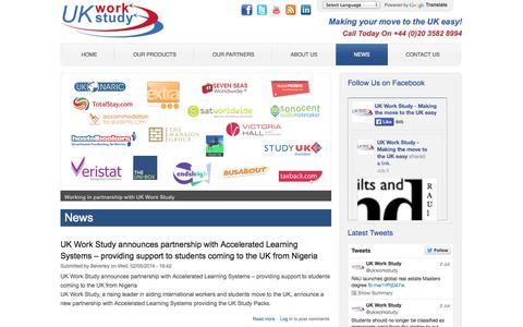 Screenshot of Press Page uk-work-study.com - News | Working In UK | Work And Study In UK | UK Work Study Packs - captured Oct. 27, 2014