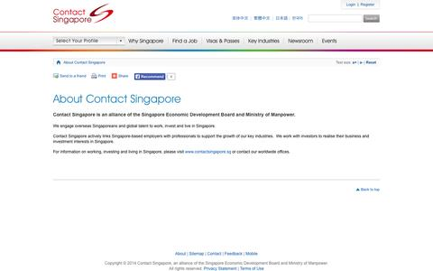 Screenshot of About Page contactsingapore.sg - About Contact Singapore - Contact Singapore - captured Sept. 23, 2014