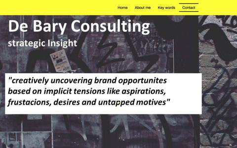 Screenshot of Contact Page debary.ch - de Bary Consulting - Contact - captured Nov. 13, 2018