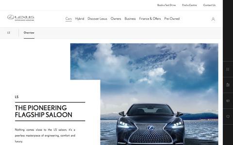 Lexus LS Model Range & Specs | Lexus UK