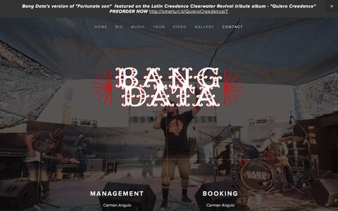 Screenshot of Contact Page bangdata.com - Contact — Bang Data - captured July 28, 2016