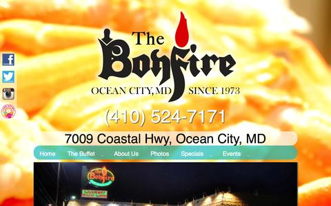 Screenshot of Menu Page thebonfirerestaurant.com - Menu | The Bonfire Restaurant - captured Oct. 26, 2014