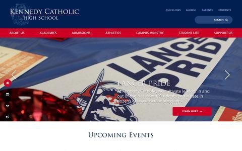 Screenshot of Home Page kennedyhs.org - Home - Kennedy Catholic High School - captured Nov. 27, 2016