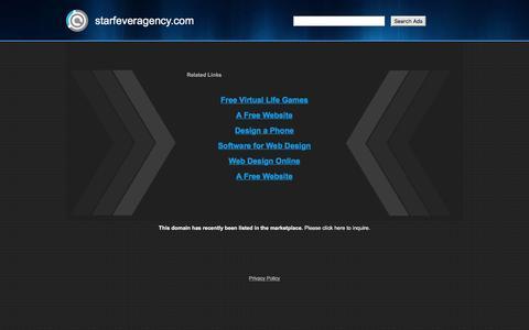 Screenshot of Home Page starfeveragency.com - starfeveragency.com - captured Dec. 6, 2016