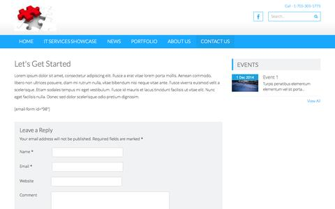 Screenshot of Contact Page envisionedsystems.com - Let's Get Started | Envisioned Systems - captured Oct. 28, 2014
