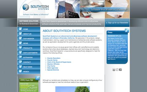 Screenshot of About Page southtechsystems.com - About Southtech Systems | SouthTech Systems™ - captured Dec. 16, 2016