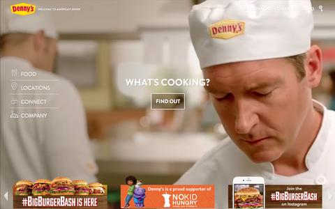 Screenshot of Home Page dennys.com - Home Page - Denny's - captured Oct. 1, 2015