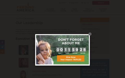 Screenshot of Team Page feedingamerica.org - Feeding America® Leadership & Board of Directors   Feeding America - captured July 1, 2019