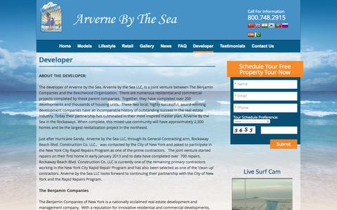 Screenshot of Developers Page arvernebythesea.com - Developer | Queens NYC Waterfront Condos | Beachfront Homes & Condominiums For Sale In New York - captured Sept. 30, 2014