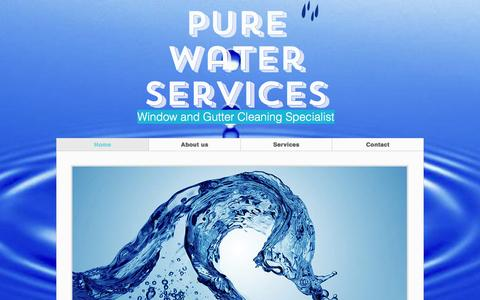 Screenshot of Home Page purewaterservices.net - Pure Water Services - captured Nov. 15, 2016