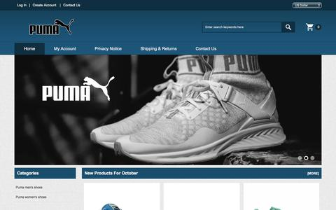 Screenshot of Home Page aikidobay.com - Pumas Shoes Professional Online Store | Puma Trainers Utterly Stylish - captured Oct. 6, 2017