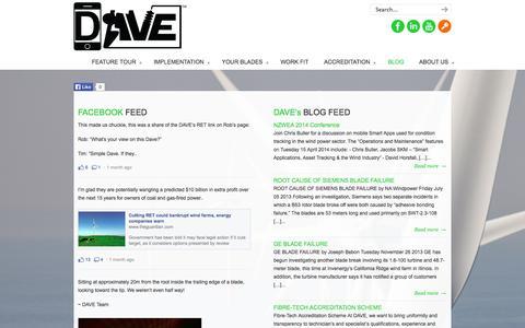Screenshot of Press Page dave-app.com - BLOG | DAVE App Limited - captured Oct. 5, 2014