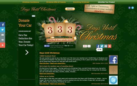 Screenshot of Home Page days-until-christmas.co.uk - DAYS UNTIL CHRISTMAS | DAYS UNTIL XMAS | SLEEPS UNTIL CHRISTMAS 2015 - captured Jan. 26, 2015