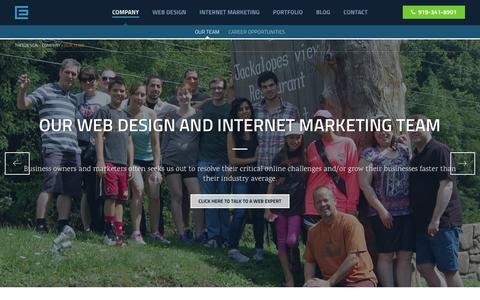 Screenshot of Team Page theedesign.com - Raleigh Web Designers, Internet Marketing & SEO Experts - captured Feb. 14, 2016