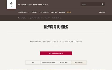 Screenshot of Team Page st-group.com - News Stories - captured Oct. 5, 2017