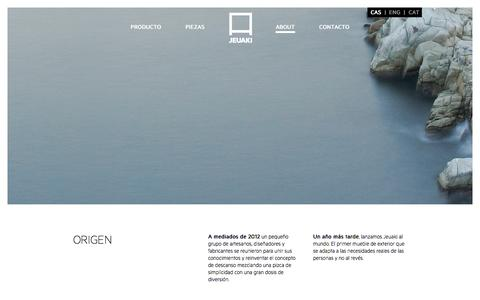 Screenshot of About Page jeuaki.com - :: JEUAKI -  ABOUT US  :: - captured Sept. 30, 2014