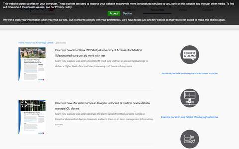 Screenshot of Case Studies Page capsuletech.com - Case Studies | Capsule - captured Dec. 3, 2015