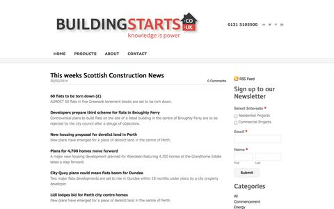 Screenshot of Blog buildingstarts.co.uk - Building Starts - Building Starts | Blog for the Scottish Construction Industry - captured Oct. 5, 2014