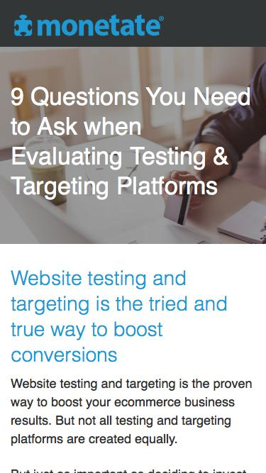 9 Questions You Need to Ask when Evaluating Testing & Targeting Platforms