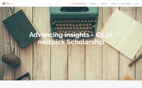 Advancing insights - €1.5k nestpick Scholarship