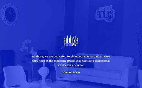 Screenshot of Home Page abbyssalon.com - Abbys Salon ATL - captured Oct. 4, 2014