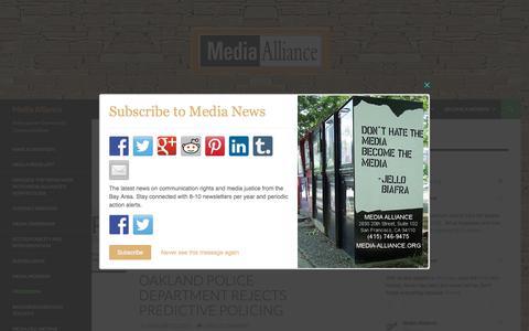 Screenshot of Press Page media-alliance.org - Press Room   Media Alliance - captured June 10, 2017