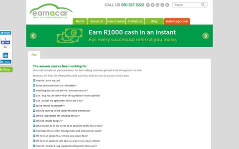 Struggling to get finance? Rent to buy your car | South Africa | Earn a Car