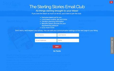 Screenshot of Blog sterlingresorts.com - Gulf Coast Vacation Rental Blog ~ Sterling Resorts - captured Dec. 4, 2016