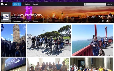 Screenshot of Flickr Page flickr.com - Flickr: St Giles International's Photostream - captured Oct. 26, 2014