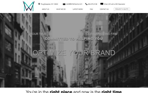 Screenshot of Home Page whitehausny.com - Web Design, Branding, Marketing | WhiteHaus Marketing | Poughkeepsie - captured Oct. 18, 2018